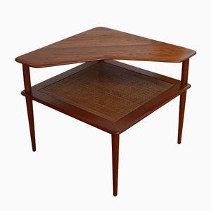 Vintage Solid Teak 519 Corner Table by Peter Hvidt and Orla Molgaard Nielsen for France & Son