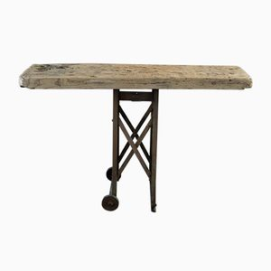 Vintage Industrial Hornbeam Side Table