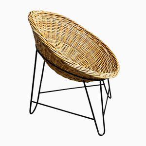 Vintage German Rattan Easy Chair