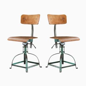 Vintage Architects Chair from Bienaise, Set of 2