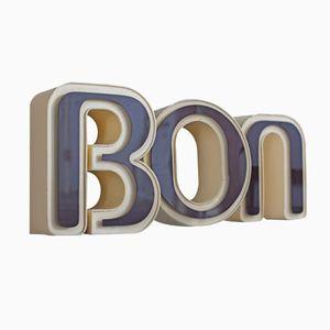 Lettere per insegna pubblicitaria in plastica, Francia, set di 3