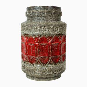 Ceramic Floor Vase with Relief from Bay Keramik, 1960s