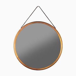 Miroir en Pin par Uno & Östen Kristiansson pour Luxus, 1960s