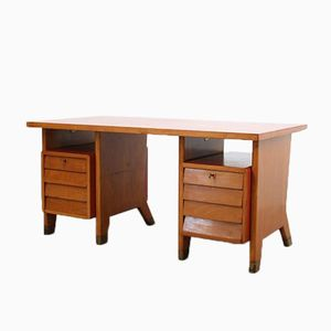 Mid-Century Oak Desk by Gio Ponti