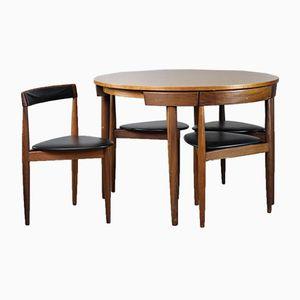 Vintage Danish Dining Table & Chairs by Hans Olsen for Frem Rojle