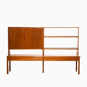 Mahogany Wall Cabinet by Josef Frank for Svenskt Tenn, 1950s
