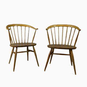Vintage Cow Horn Stühle von Lucian Ercolani für Ercol, 2er Set