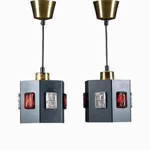 Lampes à Suspension par Einar Bäckström & Erik Höglund, Suède, Set de 2