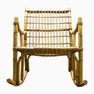 Rocking Chair Vintage en Bambou