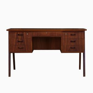 Danish Teak Desk with Seven Drawers, 1960s