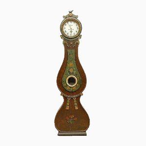 Antike Schwedische Holz Mora Uhr