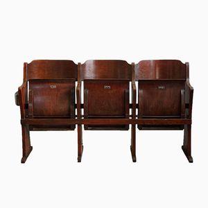 Belgische Vintage Art Deco Drei-Sitzer Kinobank von Fibrocit