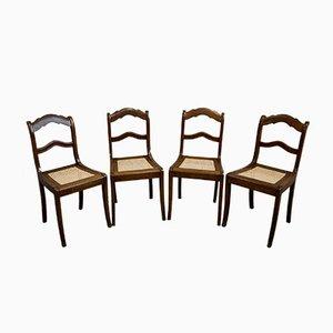 Antike Biedermeier Esszimmerstühle, 4er Set