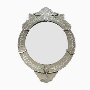Vintage Venetian Glass Mirror, 1940s