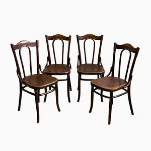 Antique Viennese Chairs from Fischel, Set of 4