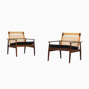 Lounge Chairs by Hans Olsen for Juul Kristensen, 1950s, Set of 2