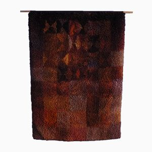 Finnish Hand-Woven Wool Carpet from Ritva Puotila, 1978