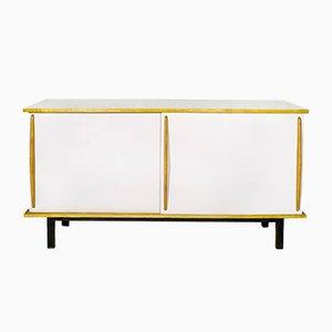 Weißes Cansado Sideboard von Charlotte Perriand für Steph Simon, 1950er
