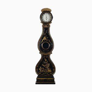 Antike Schwedische Lackierte Mora Uhr