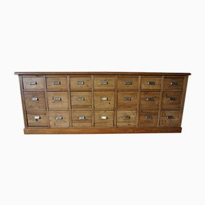 German Pine Apothecary Bank of Drawers, 1950s