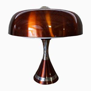 Copper Space Age Desk Lamp, 1970s