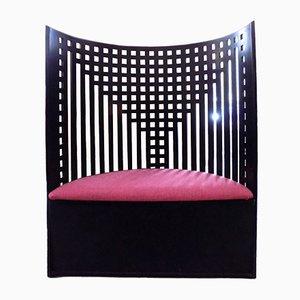 Weidenholz Armlehnstuhl von Charles Renee Mackintosch für Cassina, 1980er