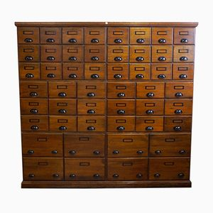 Large Eight-Part Pharmacy Drawer Cabinet, 1900s