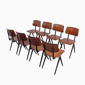 S15 Compass Pyramid Chairs from Galvanitas, 1960s, Set of 8