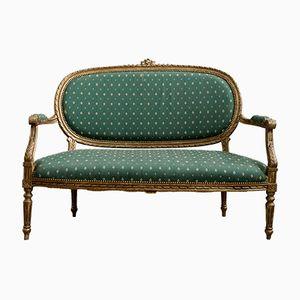 Canapé Style Louis XVI avec Deux Places et Accoudoirs, 1850s