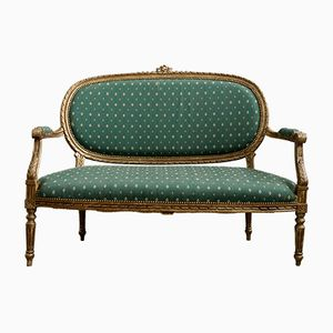 Louis XVI Style Two-Seater Sofa with Armrests, 1850s