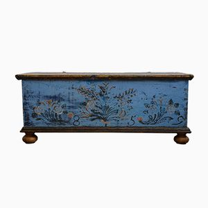 Painted Flat Lid Hope Chest, 1859