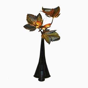 Brass & Agate Floor Lamp by Henri Fernandez for Maison Honoré, 1970s