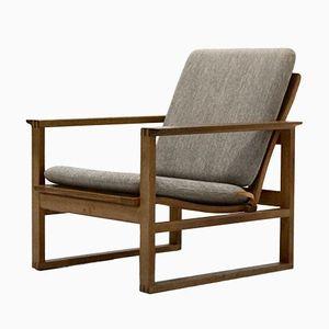 Model BM2256 Oak Lounge Chair by Børge Mogensen for Fredericia, 1956