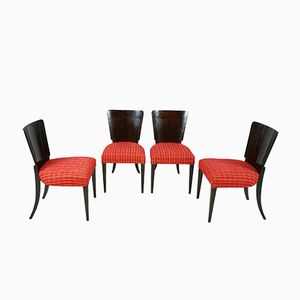 Art Deco Chairs by Jindrich Halabala, 1930s, Set of 4