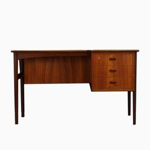 Danish Asymmetric Teak Desk, 1960s