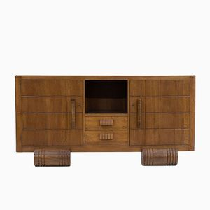 French Art Deco Sideboard in Walnut by Charles Dudouyt, 1930s