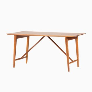 Teak Desk by Peter Hvidt & Orla Mølgaard for Søborg, 1950s