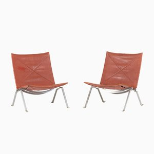 PK 22 Lounge Chairs by Poul Kjæerholm for Kold Christensen, 1950s, Set of 2