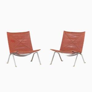 PK 22 Lounge Stühe von Poul Kjæerholm für Kold Christensen, 1950er, 2er Set