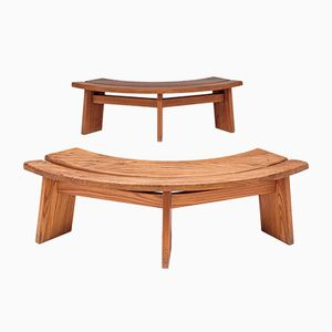 S38 Benches by Pierre Chapo, 1970s, Set of 2