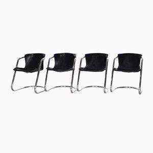 Italienische Esszimmerstühle von Willy Rizzo für Cidue, 1970er, 4er Set