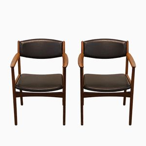 Mid-Century Swedish Rosewood Armchairs from Albin Johansson & Söner, Set of 2