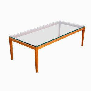 Mid-Century Teak and Glass Coffee Table, 1960s