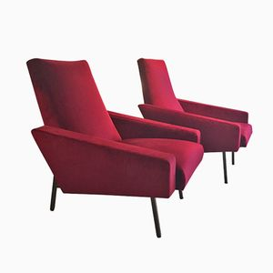 Mid-Century French Armchairs by Pierre Guariche, 1950s, Set of 2