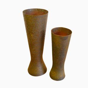 Deutsche Messing Vasen von Hayno Focken, 1930er