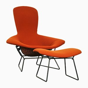 Bird Sessel & Ottoman von Harry Bertoia für Knoll International, 1970er
