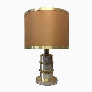 Vintage Italian Brass & Chrome Lamp, 1960s