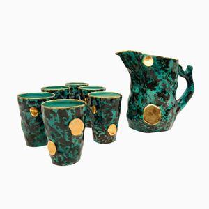 Keramik Getränkeservice von Ceramiche Pucci, 1950er
