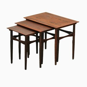 Rosewood Nesting Tables by Poul Hundevad for Hundevad & Co., 1960s