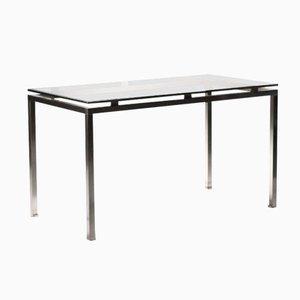 Brushed Steel Desk by Guy Lefèvre for Maison Jansen, 1970s